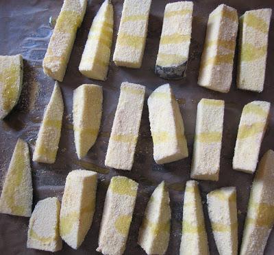 Bouchées d'aubergine à la polenta