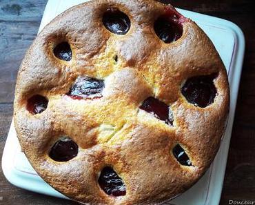 Gâteau Mascarpone aux Prunes