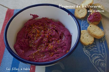 Houmous de betteraves au cumin