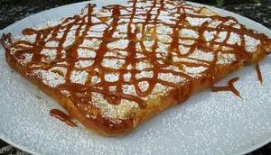 Gâteau invisible pommes nappé caramel beurre salé recette facile companion thermomix sans robot