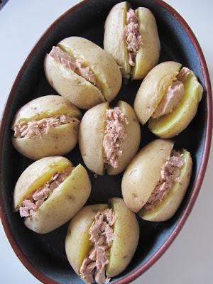 Jacket potatoes au thon & au boursin