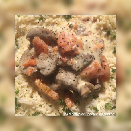 d licieuse blanquette de veau carottes champignons recette facile et rapide au cookeo. Black Bedroom Furniture Sets. Home Design Ideas