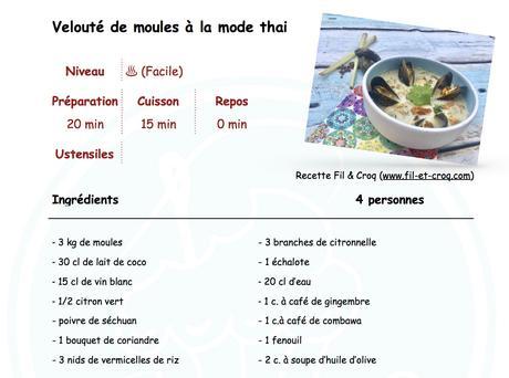 Bouillon thai aux moules ♨♨