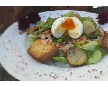 Salade campagnarde pommes de terre lardons et son oeuf mollet au cookeo