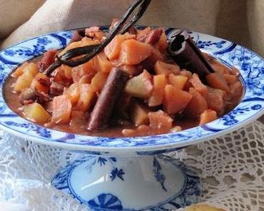Compote de poires épicée aux dattes