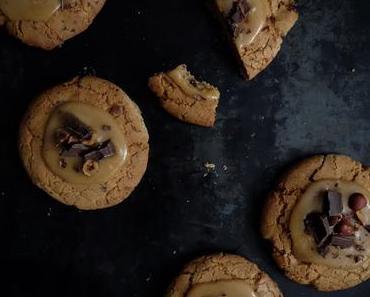 Snickerdoodles au caramel et chocolat