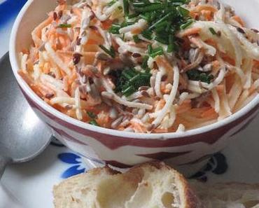 Salade de radis noir aux carottes & à la pomme