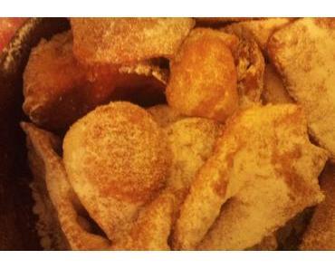 Recette de bugnes lyonnaises moelleuses, gonflées (cuisine de Lyon)