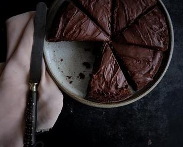 Brownie au chocolat et ganache à la bière