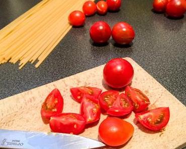 Tomates cerises – Linguine con pomodorini freschi