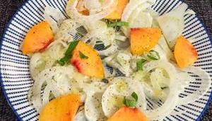 Bluffant Salade fenouil, pêche basilic