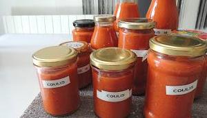 Coulis tomates l'huile d'olive curry