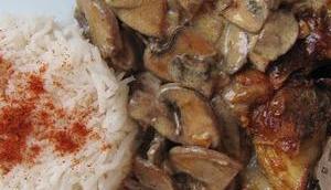 Côtes veau crème champignons