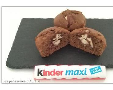 Muffins fourrés au Kinder maxi