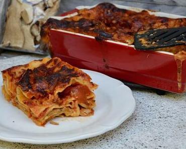 Lasagnes aux cèpes et tomates