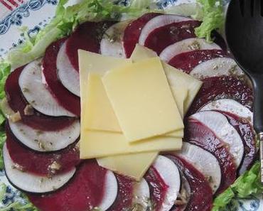 Salade de betteraves au comté & au radis noir