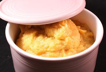 Purée de patate douce et chou-fleur