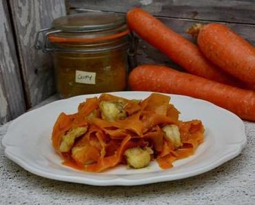 Wok de lotte et carottes au curry