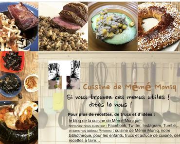 menus du 12 au 18 janvier dans la cuisine de mémé Moniq