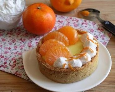 Tartelettes crème bergamote-clémentine chantilly coco { sans gluten, sans lait, sans oeufs }