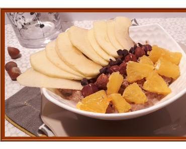 Porridge aux flocons d'avoine et Noisettes