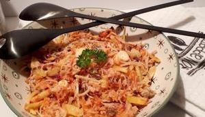 Salade carottes, betterave jaune panais