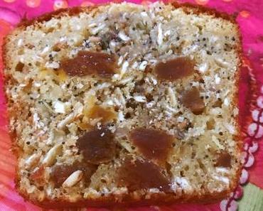 Mon cake aux focons d'avoine et aux abricots secs