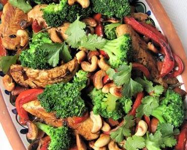 Poulet aux noix de cajou & petits légumes