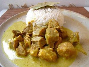 Sauté veau curry