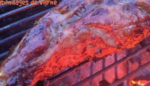 Filet mignon laqué barbecue