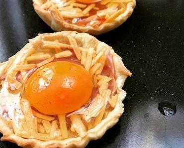 tartelettes breakfast au bacon
