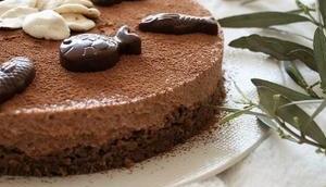 Entremet chocolaté pour Pâques sans gluten, lait, œufs