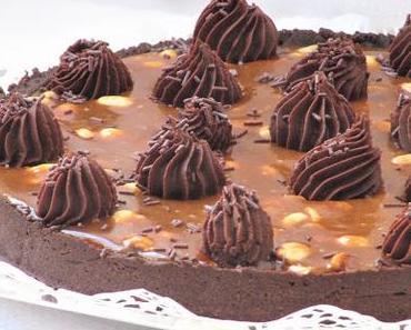 Tarte au caramel & au chocolat pour Pâques
