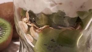 Verrine Printanière fromage blanc kiwi