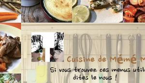 menus dans cuisine mémé Moniq