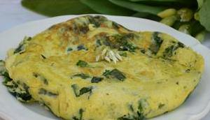 Omelette l'ail ours