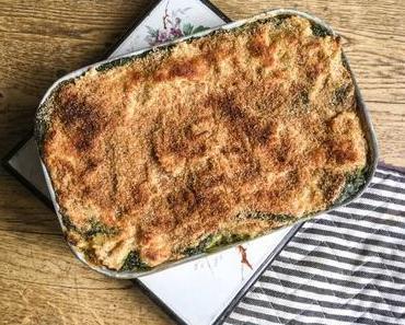Pasta e spinaci – Gratin de farfalle aux épinards