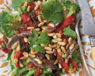 Salade de brocoli au poivron