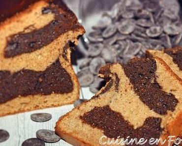 Cake marbré au chocolat et au beurre de cacahuète