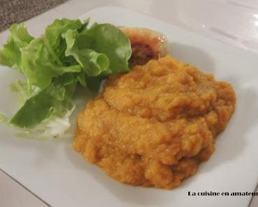 Purée de carottes et courgettes