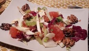 Salade fenouil, céleri pamplemousse