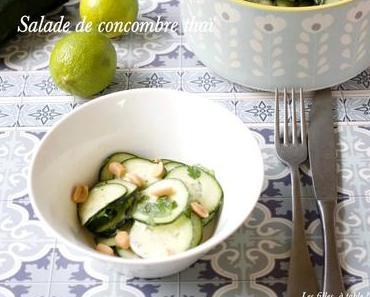 Salade de concombre thaï