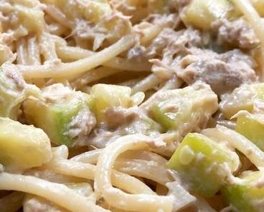 spaghetti au thon et aux courgettes