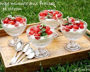 Coupe minute aux fraises et lemon curd