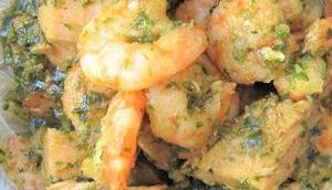 Porc caramélisé crevettes vermicelle soja