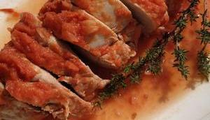 Filet mignon porc crème tomatée