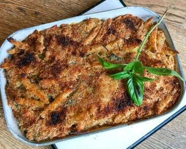 Au four – Gratin de pâtes aux courgettes