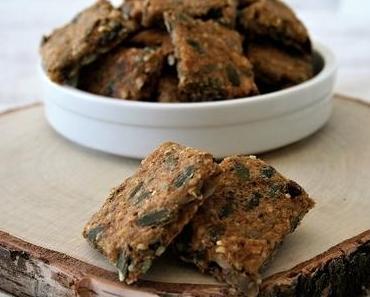 Crackers aux graines { sans gluten, sans lait, sans œufs }