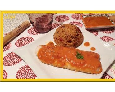 Filets de sole à la sauce tomate et Kari