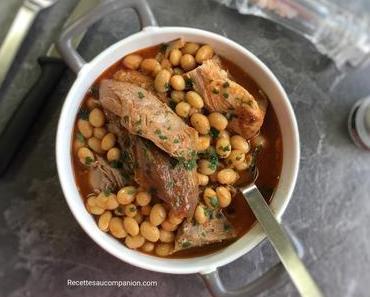 Palette demi-sel de porc et ses haricots coco à la tomate au cookeo